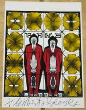 Gilbert & y George ~ Paws 2005 ~ Vert firmada a mano exposición Arte Postal
