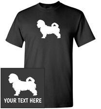 Maltese Dog Silhouette T-Shirt, Men Women Kids Long Tank Personalized Custom Tee
