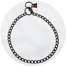 Herm Sprenger Negro Acero Inoxidable 3.0mm Cadena De Cheque/deslizamiento de enlace redondo collar de perro