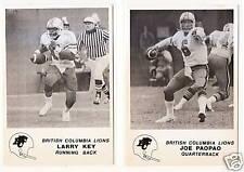1981 Jogo CFL BC Lions TEAM Set