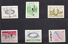 LIBERIA, 1956 OLYMPICS , SET OF 6  , IMPERF, MNH , RARE