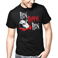 Run Hippie Run | Horror | Jason | Hockey Mask | Blood | Fun | S-XXL T-Shirt