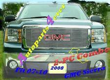 07-10 09 2008 2010 GMC Sierra Billet Grille 2PC 08 LOGO