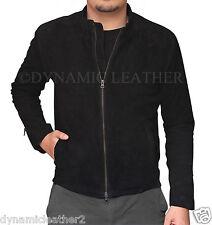James Bond Spectre 100% Genuine Lamb Black Suede Leather Jacket-All Sizes