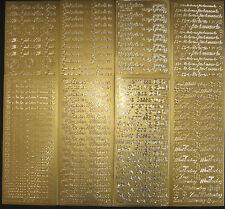 Sticker verschiedene Texte in gold zur Auswahl (Herzlichen Glückwunsch etc.)