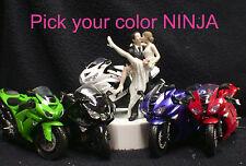 NINJA Kawasaki Motorcycle Bike Wedding Cake Topper Funny sexy PICK COLOR Racing