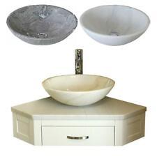 Bathroom Vanity Painted Unit Corner Wash Stand & Marble Stone Basin 501PWWM