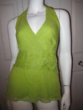 Jax Green Silk Sleeveless Top $58 Sz 12 Gorgeous
