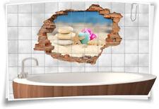 Fliesenaufkleber Fliesenbild Wanddurchbruch Wellness Entspannung Zen Steine