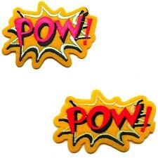 SUPERHELD PATCH TOPPA COMIC CARTOON PATCHES SAIO POW GIALLO ROSSO ROSA