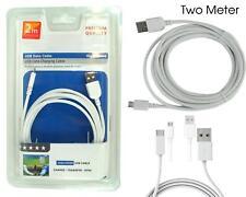 Calidad Premium Nuevo Micro USB 100% Genuino 2 metros cable de carga rápida de Sincronización &