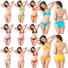 Women Push-up 2 Pieces Bikini Set Swimwear Bra Bandage Swimsuit Bathing Suit DA