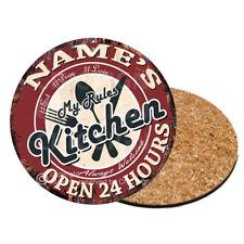 CP0137 Name's Kitchen Personalized Coasters Bar Pub Housewarming Gift Ideas