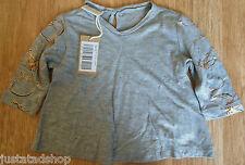 Diesel baby girl t-shirt  top size 3-6 m BNWT designer grey gold print