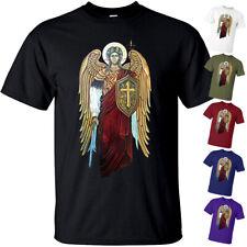 Saint Michael the Archangel Knight of God Catholic Christian T-shirt BLACK S-5XL