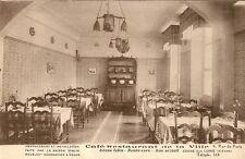 CARTE POSTALE COSNE SUR LOIRE CAFE RESTAURANT DE LA VILLE LA SALLE A MANGER