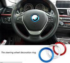 Car Steering Wheel Logo Ring Sticker Aluminum Decal For BMW Series 1/3/5/ M3 M5