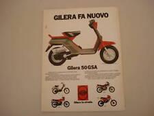 advertising Pubblicità 1983 GILERA 50 GSA