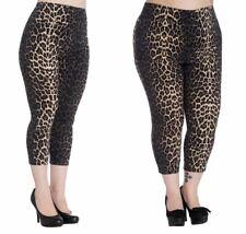 Hell Bunny Estampado de Leopardo Panthera Capri Pantalones
