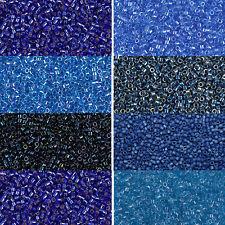 Miyuki Delica Beads rund 11/0 1,6 mm dunkelblau, royalblau, cobalt, a 5 Gramm