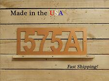 Rounded Rectangular Address Plaque, House Number Sign, HN1097