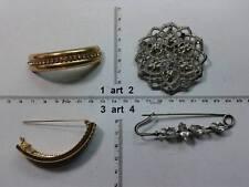spilla metallo o strass smalto perle balia italy artigianale vintage brooch b12