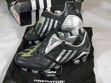 New Womens Adidas Predator P Powerswerve TRX FG W Soccer Cleats Black Silver Bag