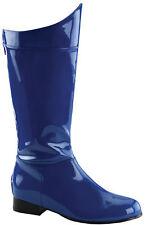 Super Hero 100 Boot Men's Blue & Black Knee High Funtasma Ellie Shoes