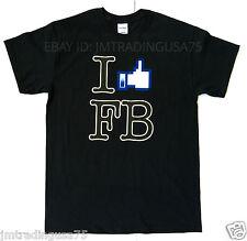 I like facebook black Funny T-Shirt Heavyweight Ultra cotton TShirt