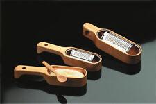 ARMONIE grattugia formaggiera acciaio inox con base legno di ciliegio