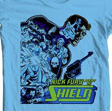 Nick Fury T shirt Agent of S.H.I.E.L.D. retro vintage superhero 100% cotton tee