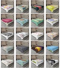 Ambesonne Saying Design Flat Sheet Top Sheet Decorative Bedding 6 Sizes