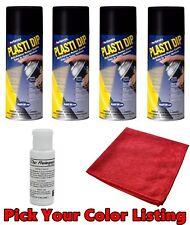 Plasti Dip Spray Aerosol Can 4 Pack Wheel Rim Kit DYC Dip Release Pick Color