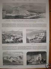 SPAIN CIVIL WAR Montellano y el área 1874 impresiones artículo