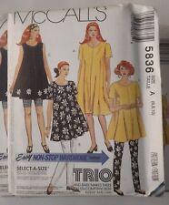 McCall's 5836 Sewing Pattern Maternity Wardrobe Dress~Tunic~Leggings U-Pick Size