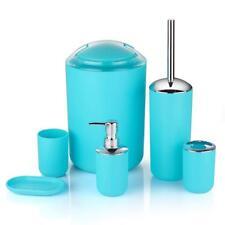 6 pezzi Set di accessori per PC da Bagno Dispenser di sapone contenitore spazzolino da denti Tumbler Holder