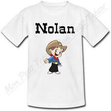 T-shirt Enfant Cow Boy Western avec Prénom Personnalisé