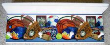 sport wall shelf soccer, baseball, hockey, basketball