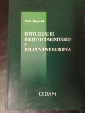 ISTITUZIONI DIRITTO COMUNITARIO E DELL'UNIONE EUROPEA