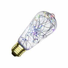 Bombilla LED E27 Filamento Luces Lemon RGB ST58 1W Cristal A++ 220-240V AC