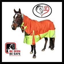 LOVE MY HORSE 4'9 - 6'9 1200D Reflective Fleece Turnout Combo Orange / Lime
