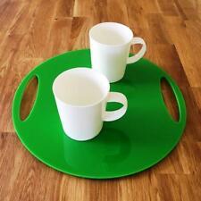 "REDONDO PLANO BANDEJA - brillo verde acrílico, 3mm grueso, 32cm 12.5"" Diámetro"
