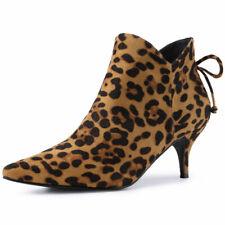 Women's Pointed Toe Kitten Heel Ankle Booties