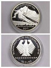 """BRD 10 Euro """"FIS Alpine Ski WM Garmisch-Patenkirchen 2011"""" 925er Silber"""