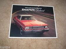 1976 Plymouth Valiant Duster Scamp sales brochure dealer catalog literature