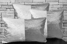 22 X 22 in environ 55.88 cm Argent Ice Velours Métallique Bling housse de coussin.