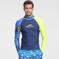 Men's Lycra Swimsuit Long Sleeve Dive Skin Snorkeling Surf Rash Guard Shirt