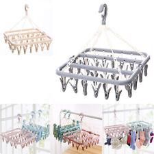 32 Pegs Washing Laundry Dryer Multifunctional Hanger Folding Hanging Rack Socks