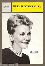 """Mary Martin """"JENNIE"""" Dennis O'Keefe / Ethel Shutta 1963 FLOP Tryout Playbill"""