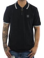 Sublevel Polo Logo Patch 20951 schwarz Neu Männer Herren Polo T-Shirt
